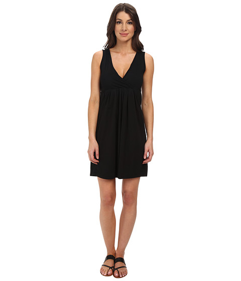 Mod-o-doc - Classic Jersey Surplice Empire Seam Tank Dress (Black) Women's Dress