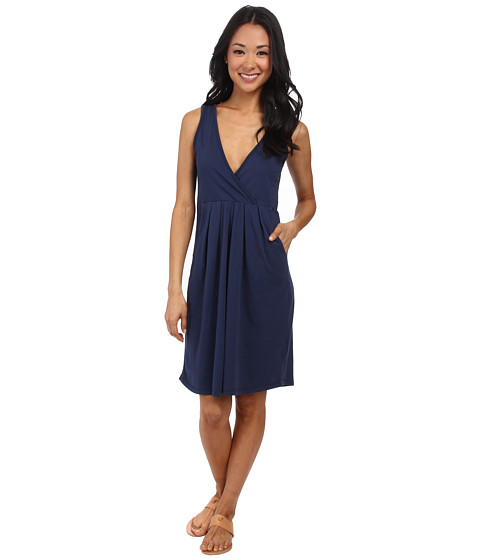 Mod-o-doc - Classic Jersey Surplice Empire Seam Tank Dress (New Navy) Women