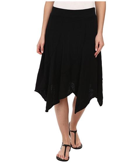 Mod-o-doc - Swirl Seam Hanky Hem Skirt (Black) Women
