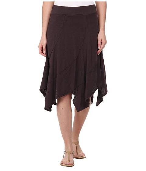 Mod-o-doc - Swirl Seam Hanky Hem Skirt (Cinder) Women