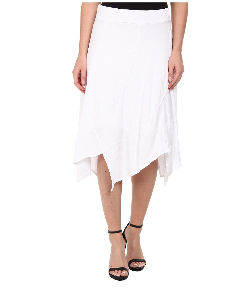 Mod-o-doc - Swirl Seam Hanky Hem Skirt (White) Women