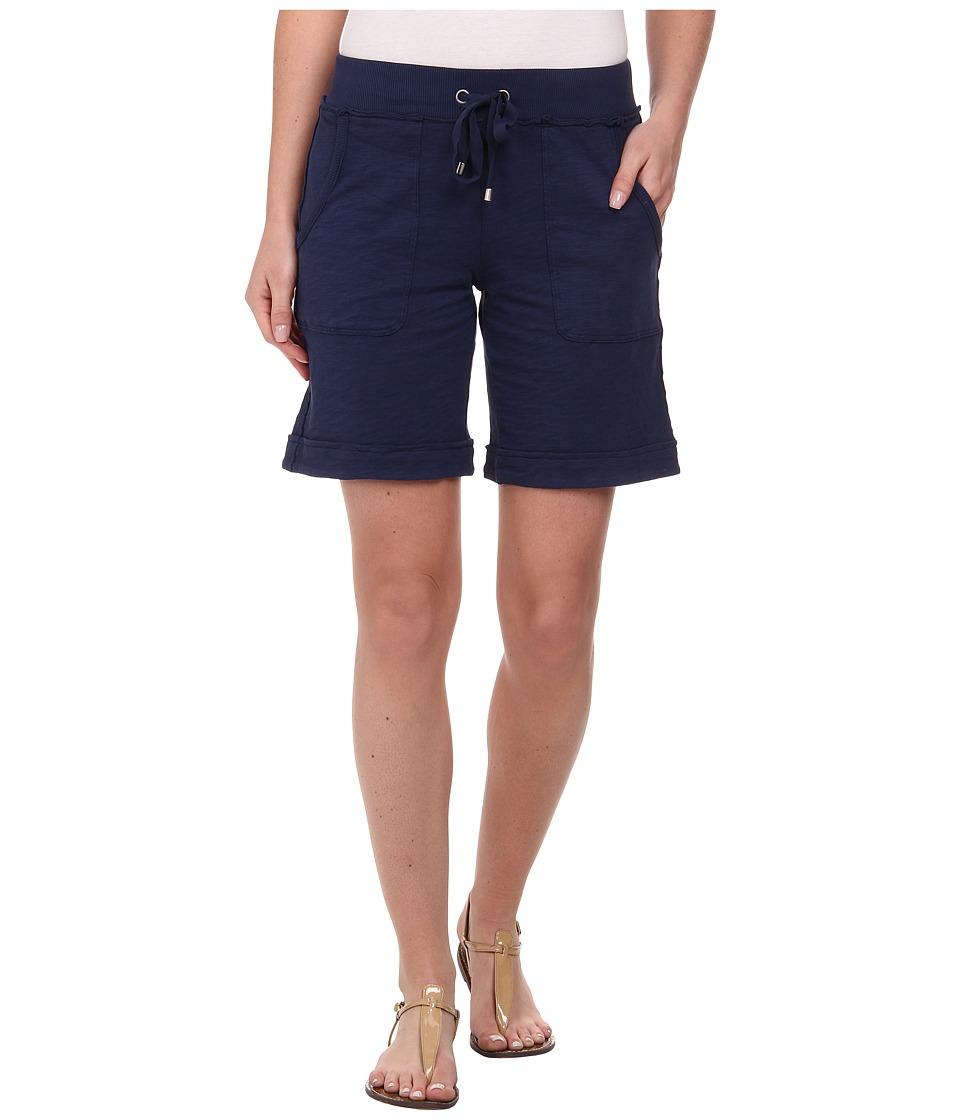 Mod-o-doc - Heavier Slub Jersey Pull-On Cuffed Short (New Navy) Women