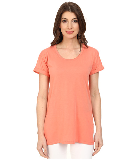 Mod-o-doc - Supreme Jersey Rolled Cuff Sleeve Scoop Neck Tee (Gelato) Women's T Shirt