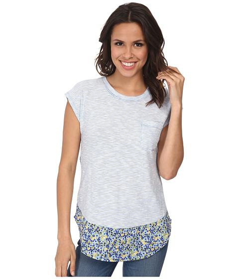 Mod-o-doc - Slub Short Sleeve Pocket Tee (Lapis) Women's T Shirt