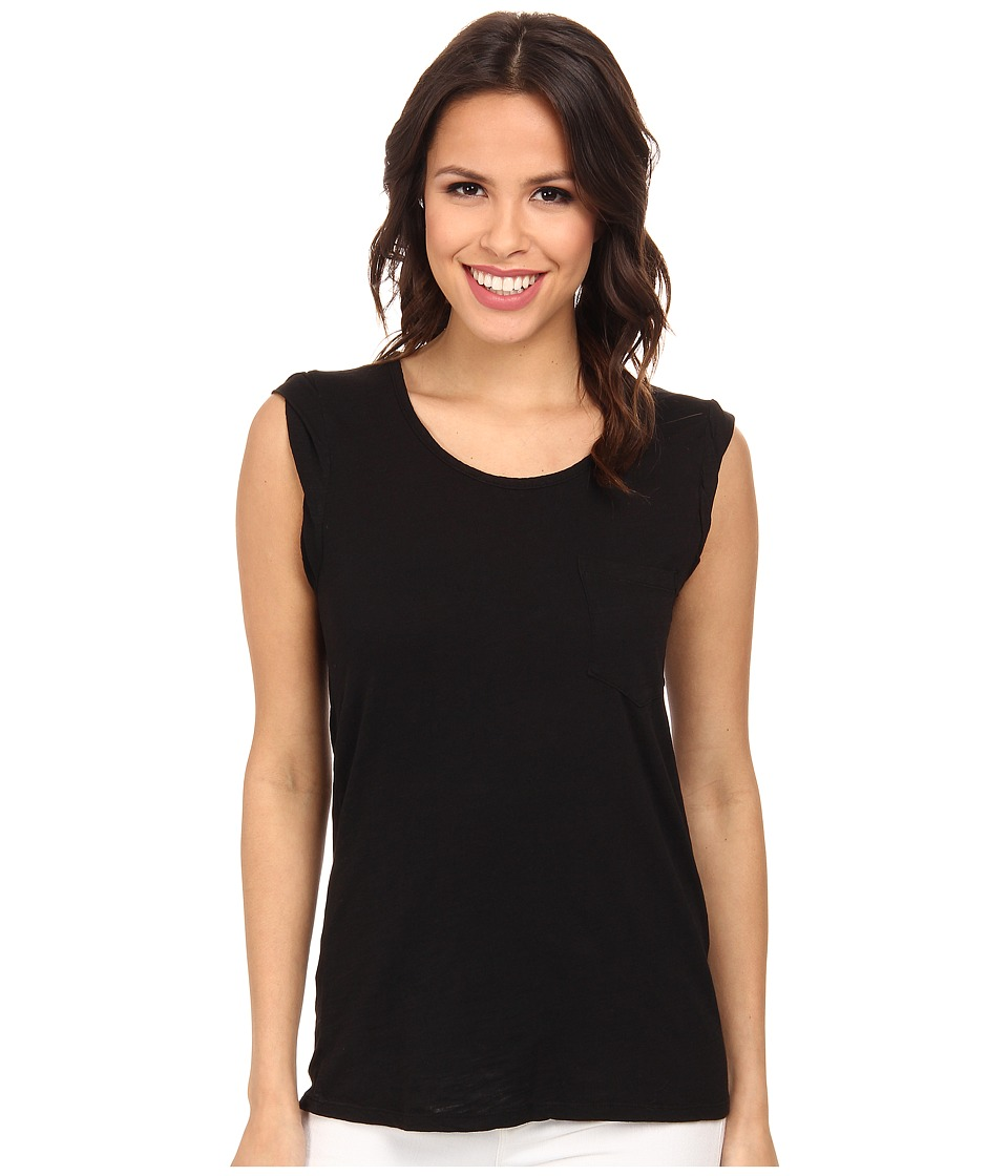 Mod-o-doc - Slub Jersey Twisted Band Muscle Tee (Black) Women's Sleeveless