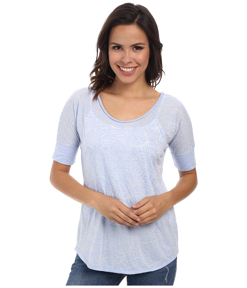 Mod-o-doc - Braided Trim Scoop Neck Tee (Larkspur) Women's T Shirt