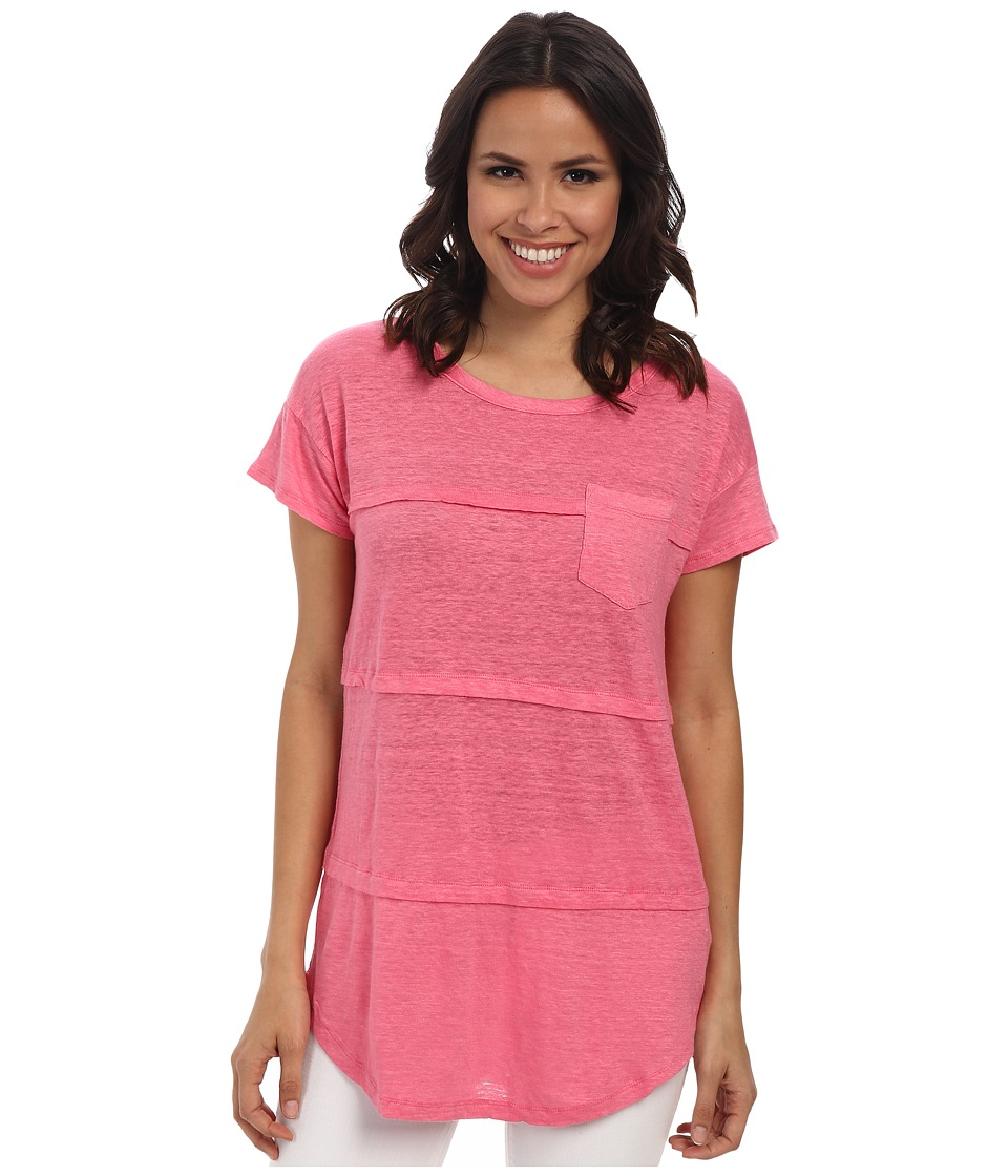 Mod-o-doc - Pleated Seam Short Sleeve Tee (Gumdrop) Women's T Shirt