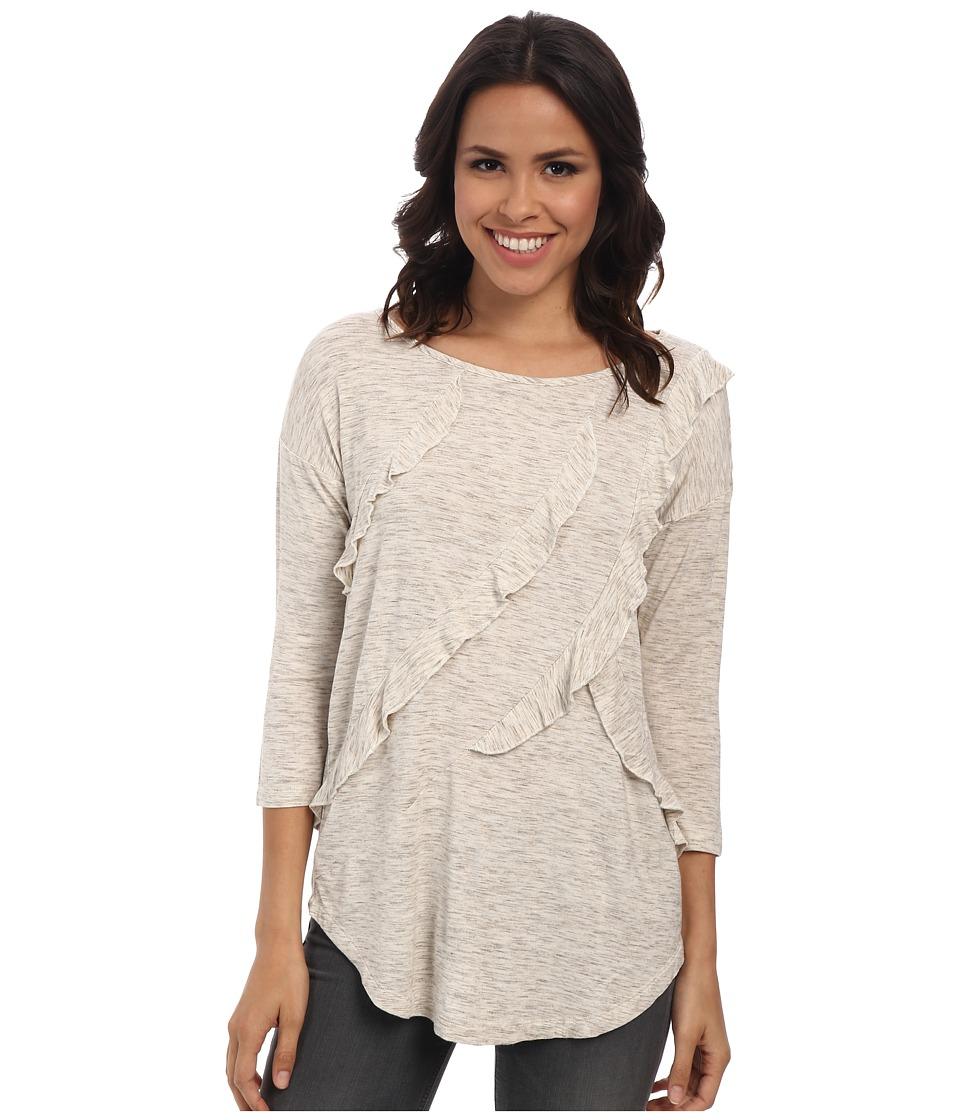 Mod-o-doc - Ruffle Seam Tee (Flax Heather) Women's T Shirt