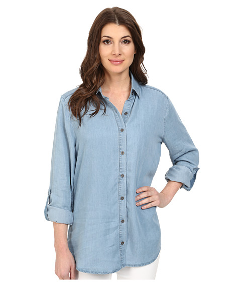 Miraclebody Jeans - Lolita Lace Insert Top w/ Body-Shaping Inner Shell (Tacoma) Women's Long Sleeve Button Up