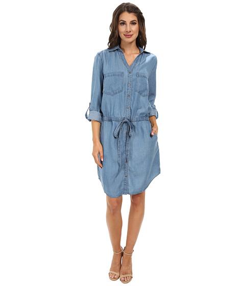 Miraclebody Jeans - Dixie Tencel Denim Dress w/ Body-Shaping Inner Shell (Santa Cruz) Women