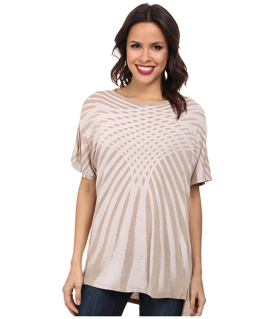 Miraclebody Jeans - Paige Pleat Back Top w/ Body-Shaping Inner Shell (Linen) Women's Short Sleeve Pullover