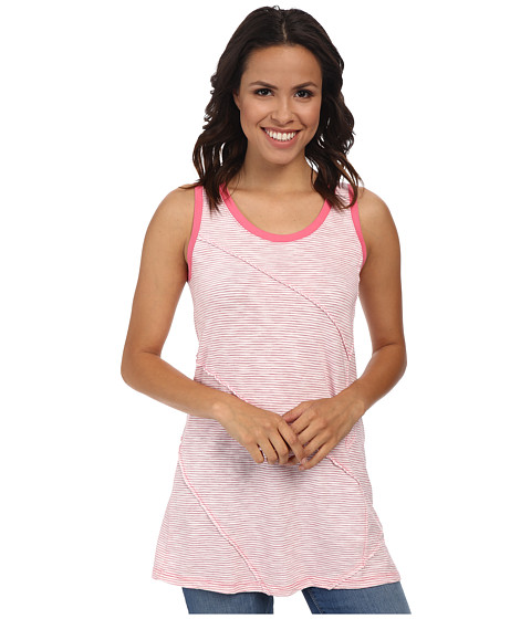 Mod-o-doc - Slub Stripe Raw Edge Seamed Tank Top (Gumdrop) Women