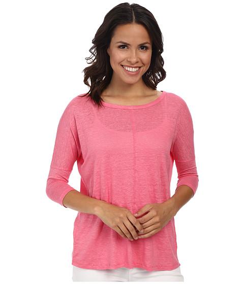 Mod-o-doc - Knit Linen Easy Seamed Scoop Neck Pullover (Gumdrop) Women