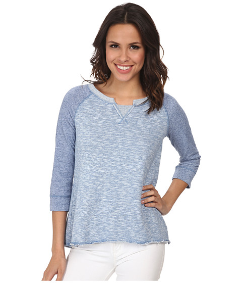 Mod-o-doc - French Terry Pieced Raglan Pullover (Blue) Women