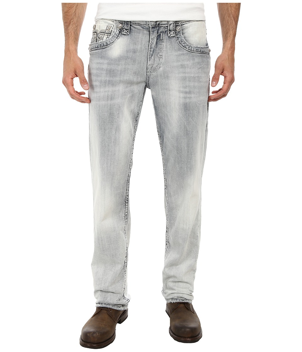 Rock Revival - Mario J8 Straight in Light Indigo (Light Indigo) Men's Jeans