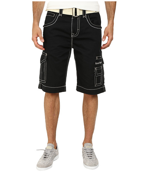 Rock Revival - Cargo Short in Black/White (Black/White) Men's Shorts
