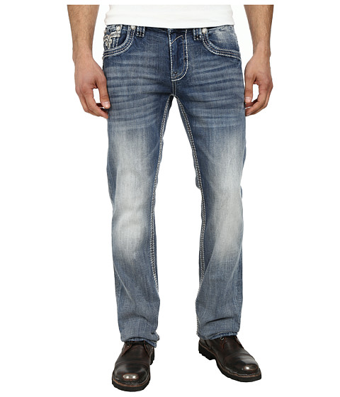 Rock Revival - Coeus J Straight in Light Indigo (Light Indigo) Men's Clothing