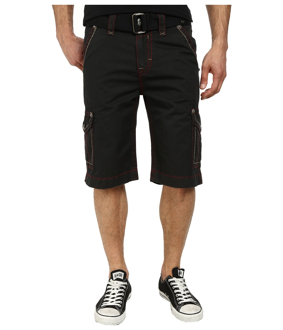 Rock Revival - Cargo Short in Black/Red (Black/Red) Men