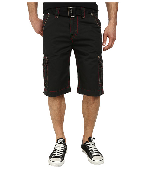 Rock Revival - Cargo Short in Black/Red (Black/Red) Men