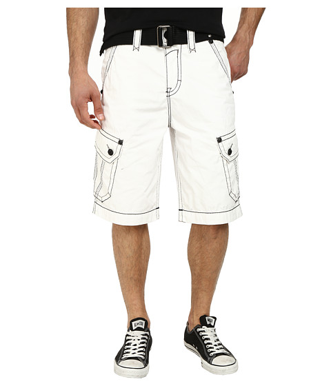 Rock Revival - Cargo Short in White/Black (White/Black) Men's Shorts