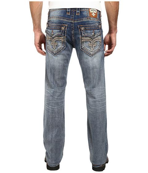 Rock Revival - Kaejon J202 Straight in Medium Indigo (Medium Indigo) Men's Clothing