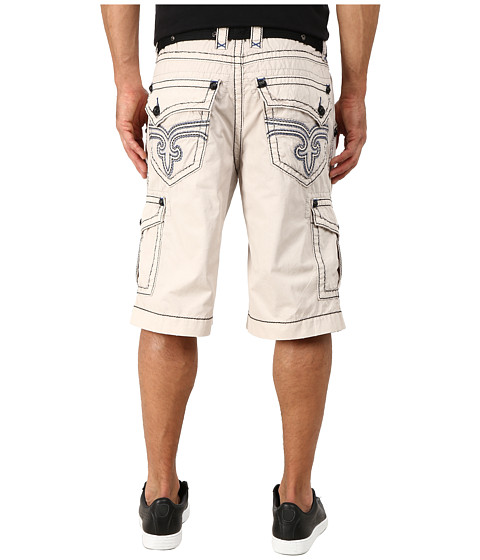 Rock Revival - Cargo Short in Stone (Stone) Men