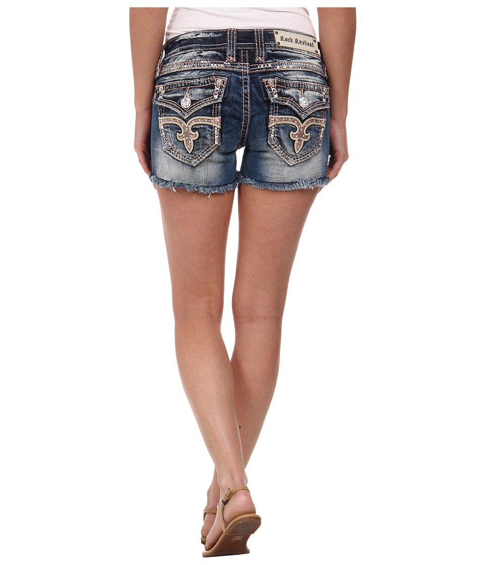 Rock Revival - Angie H29 Short in Medium Indigo (Medium Indigo) Women's Shorts