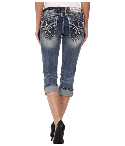 Rock Revival - Luz P15 Capri in Medium Indigo (Medium Indigo) Women