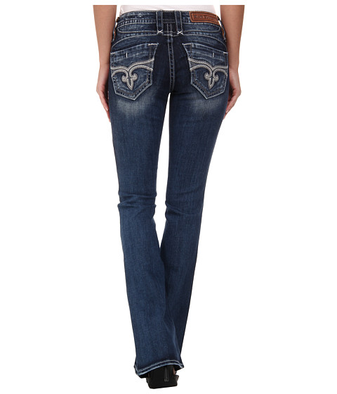 Rock Revival - Viola B3 Bootcut in Medium Indigo (Medium Indigo) Women's Clothing