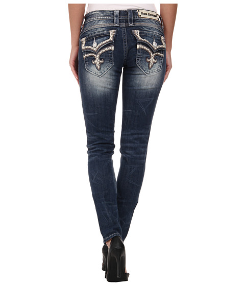 Rock Revival - Lilian S3 Skinny in Medium Indigo (Medium Indigo) Women's Clothing