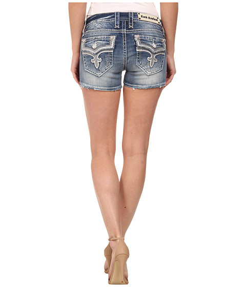 Rock Revival - Ena H9 Short in Medium Indigo (Medium Indigo) Women's Shorts