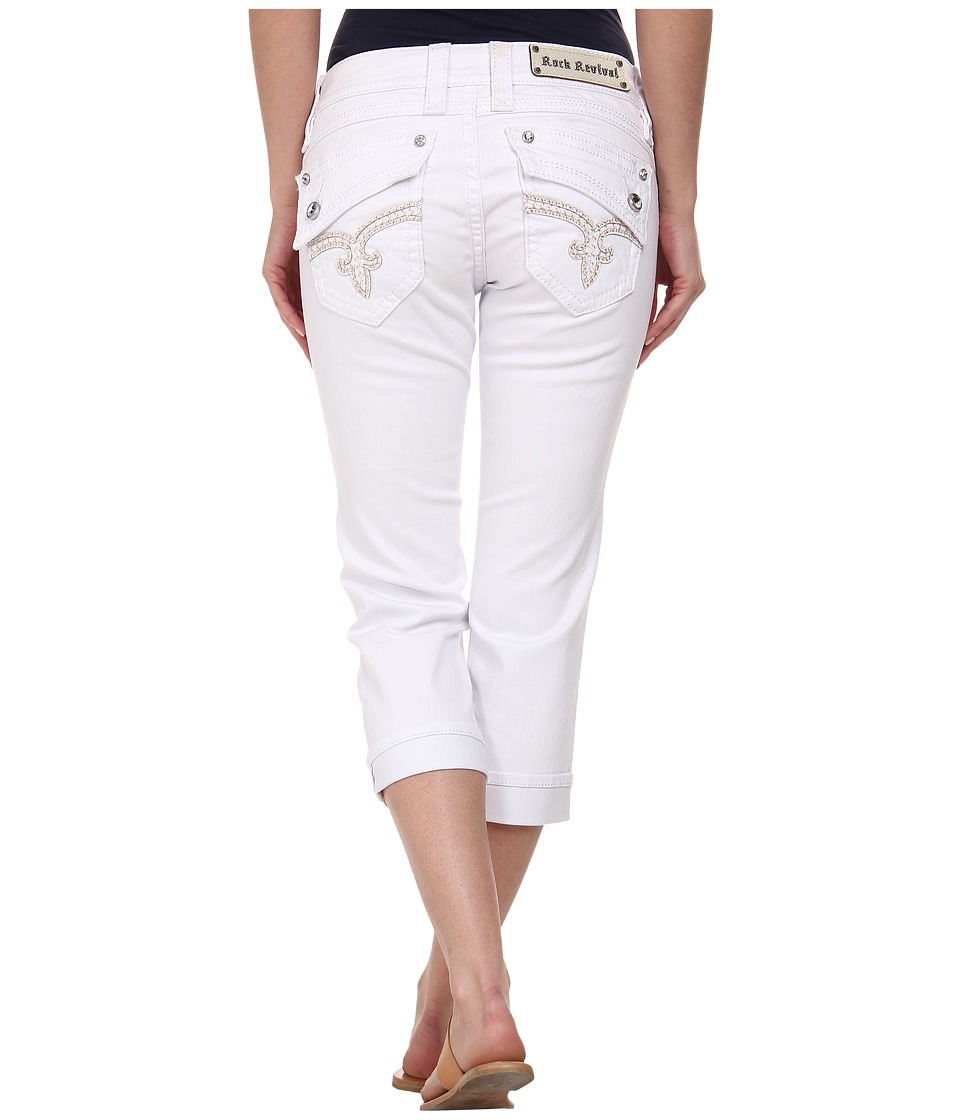 Rock Revival - Johanna P65 Capri in White (White) Women