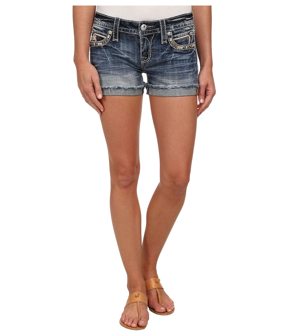 Rock Revival - Pilkin H9 Short in Medium Indigo (Medium Indigo) Women's Shorts