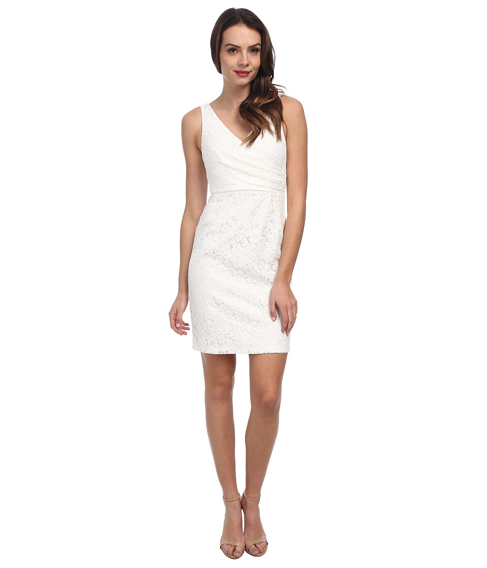 Donna Morgan - Lulu V-Neck Lace Dress (Ivory) Women's Dress