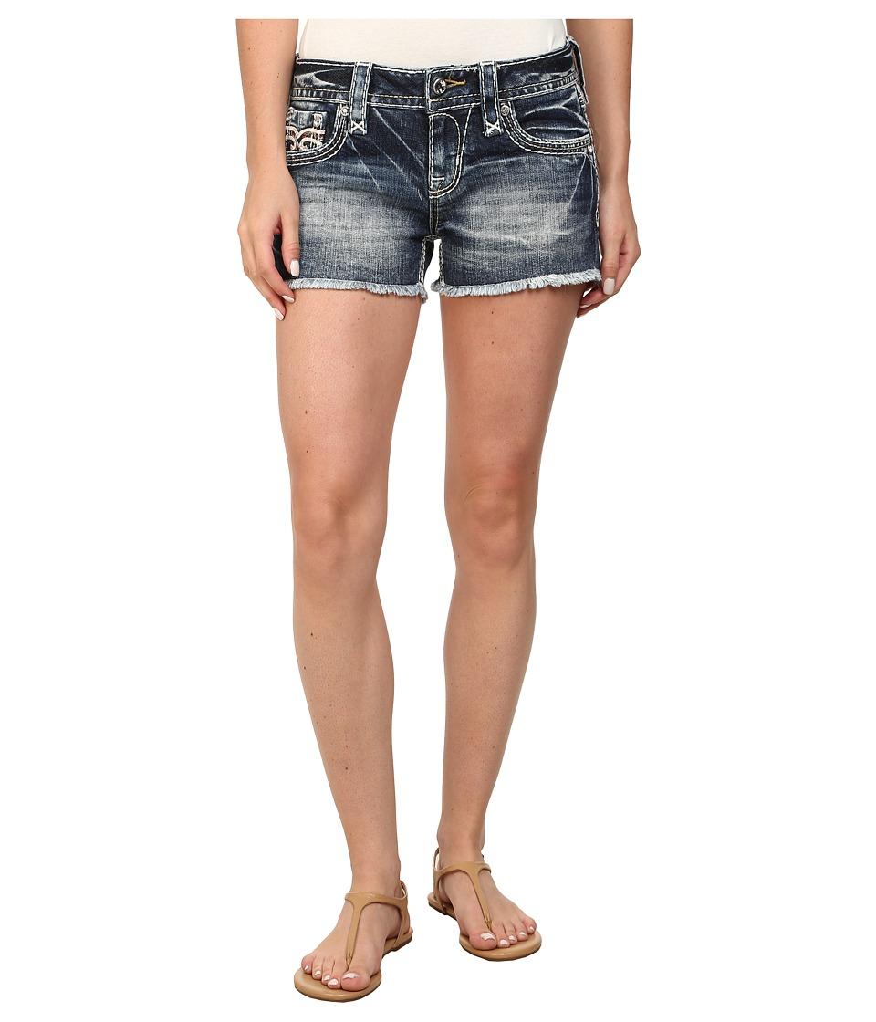 Rock Revival - Bambi H202 Short in Medium Indigo (Medium Indigo) Women's Shorts