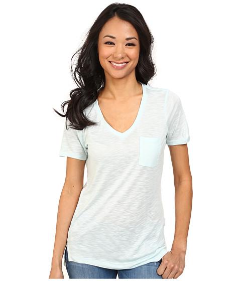 Calvin Klein Jeans - S/S V-Neck Slub Tee (Serenity) Women