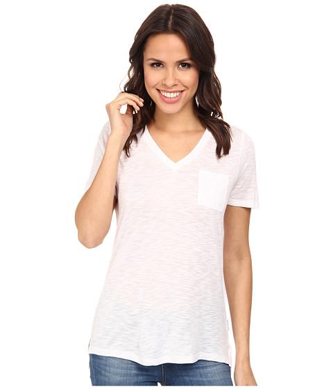 Calvin Klein Jeans - S/S V-Neck Slub Tee (White) Women