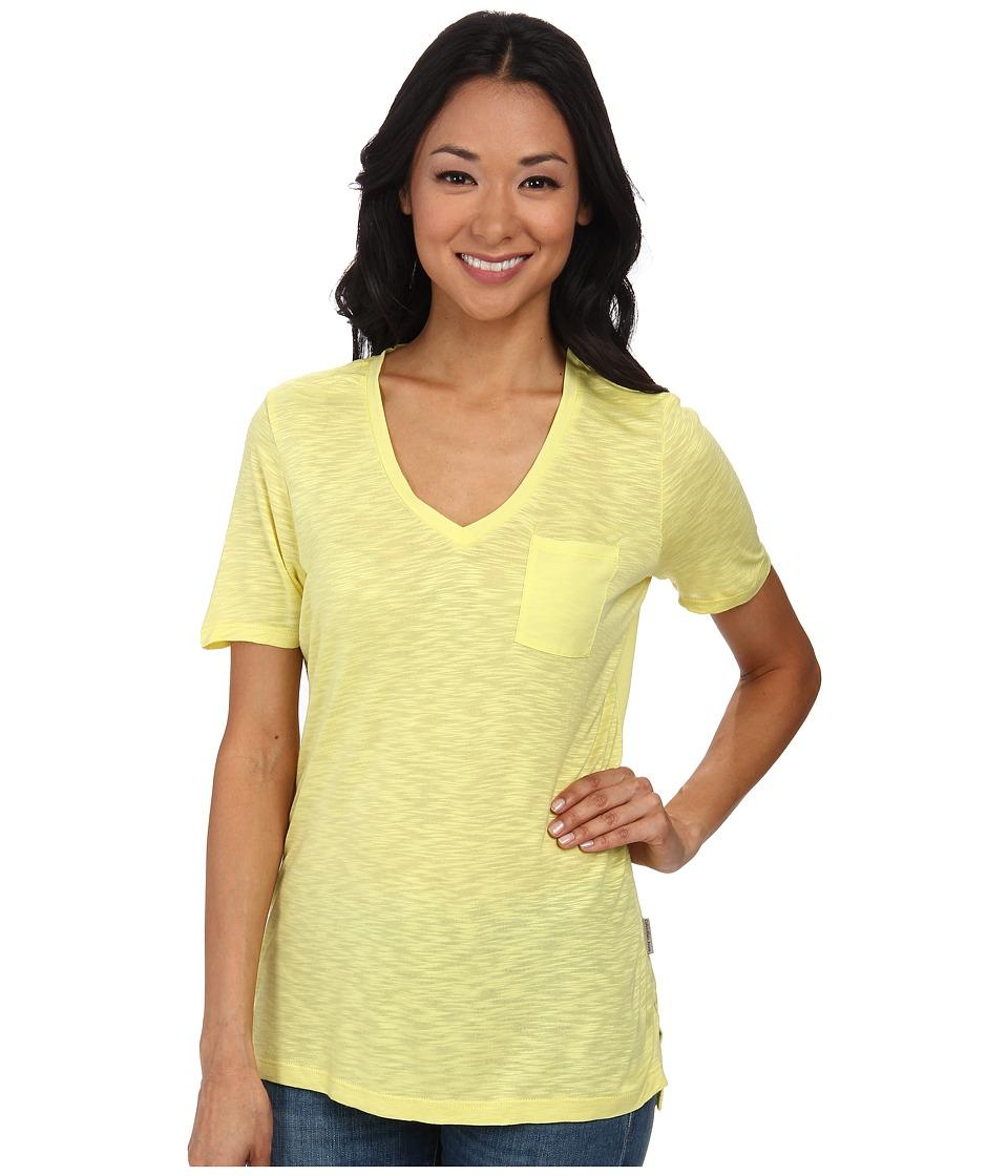 Calvin Klein Jeans - S/S V-Neck Slub Tee (Lemongrass) Women