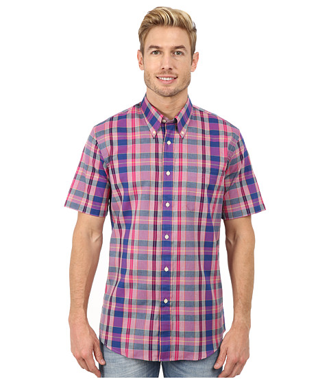 Pendleton - S/S Seaside Button-Down (Purple/Navy/Cherry) Men's Short Sleeve Button Up
