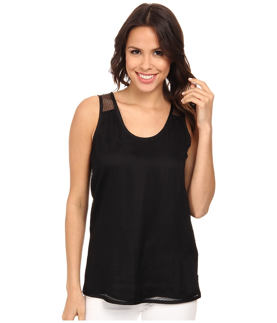 Calvin Klein Jeans - Mesh Combo Tank Top (Black) Women's Sleeveless