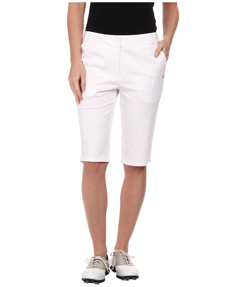 LIJA - Terra Shotgun Knee Short (White) Women's Shorts