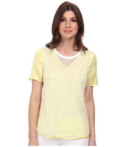 Calvin Klein Jeans - Mesh Combo Tee (Lemongrass) Women's T Shirt