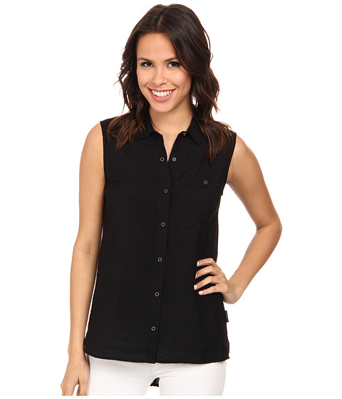 Calvin Klein Jeans - Sleeveless Knit Back Utility Shirt (Black) Women's Sleeveless