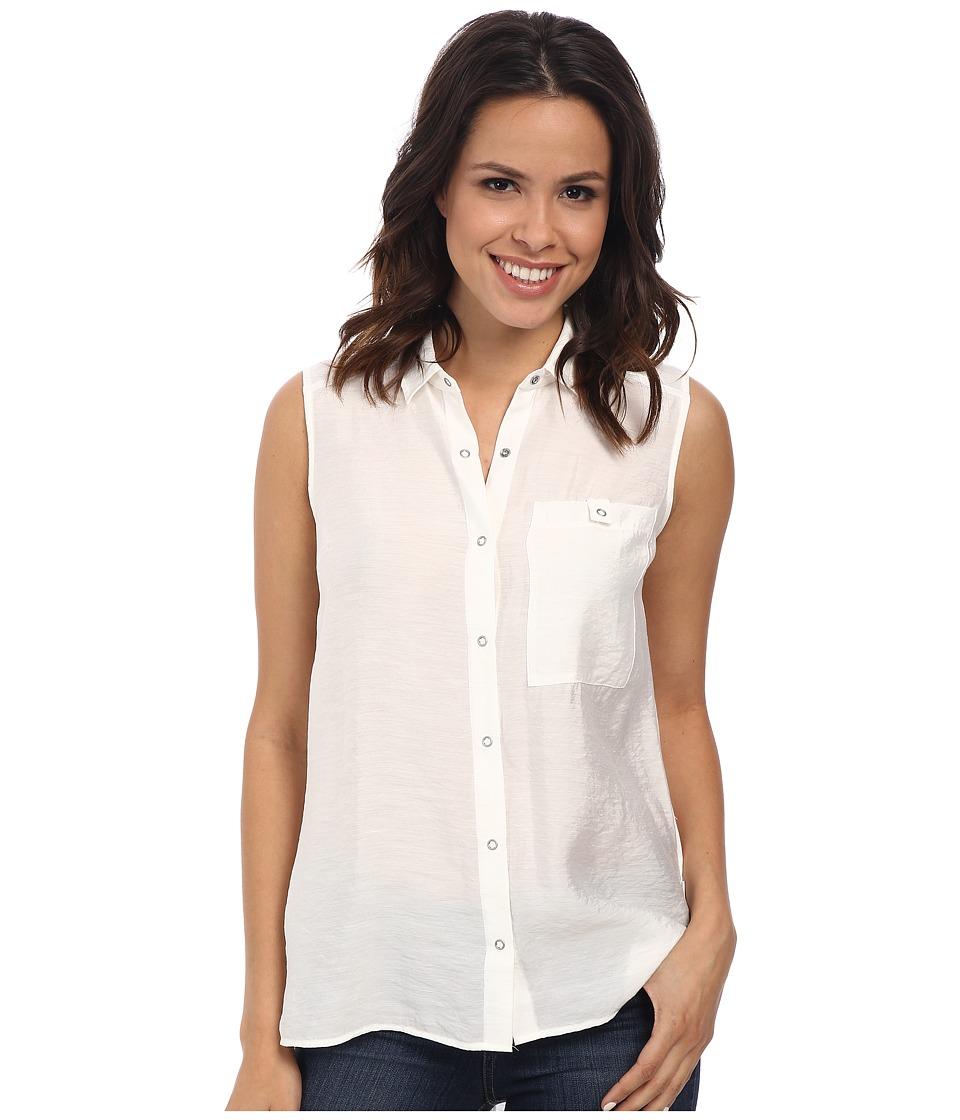 Calvin Klein Jeans - Sleeveless Knit Back Utility Shirt (Lattice) Women's Sleeveless