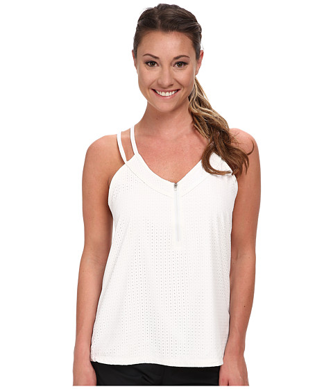 LIJA - Floating Double Strap Tank (White) Women's Sleeveless