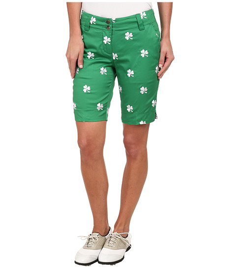 Loudmouth Golf - Shamrocks Short (Kelly Green) Women's Shorts