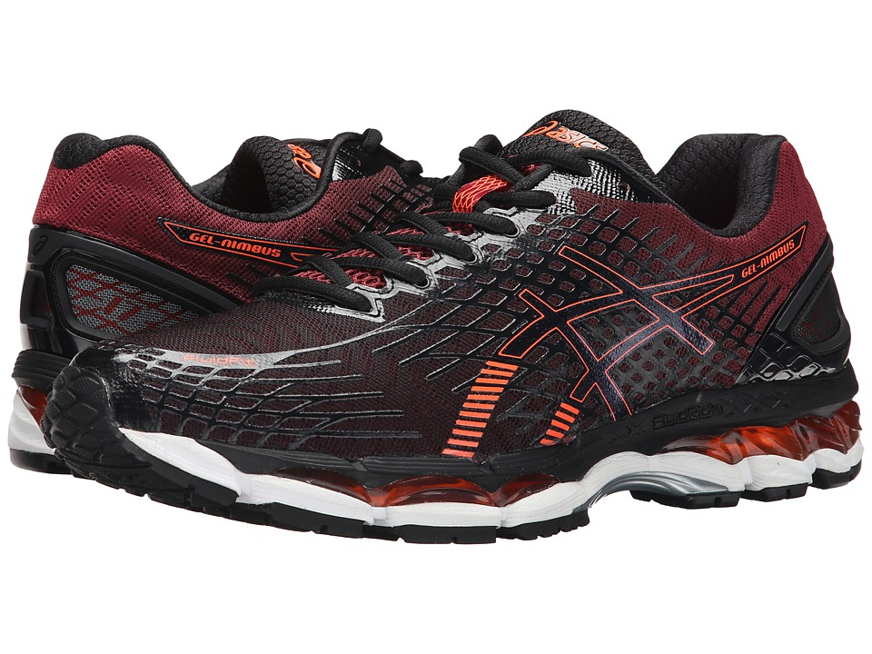 ASICS - GEL-Nimbus 17 (Black/Hot Orange/Deep Ruby) Men's Running Shoes