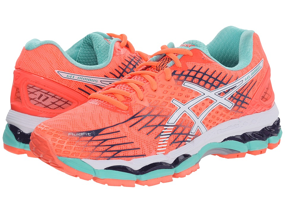 ASICS - GEL-Nimbus 17 (Flash Coral/White/Indigo Blue) Women