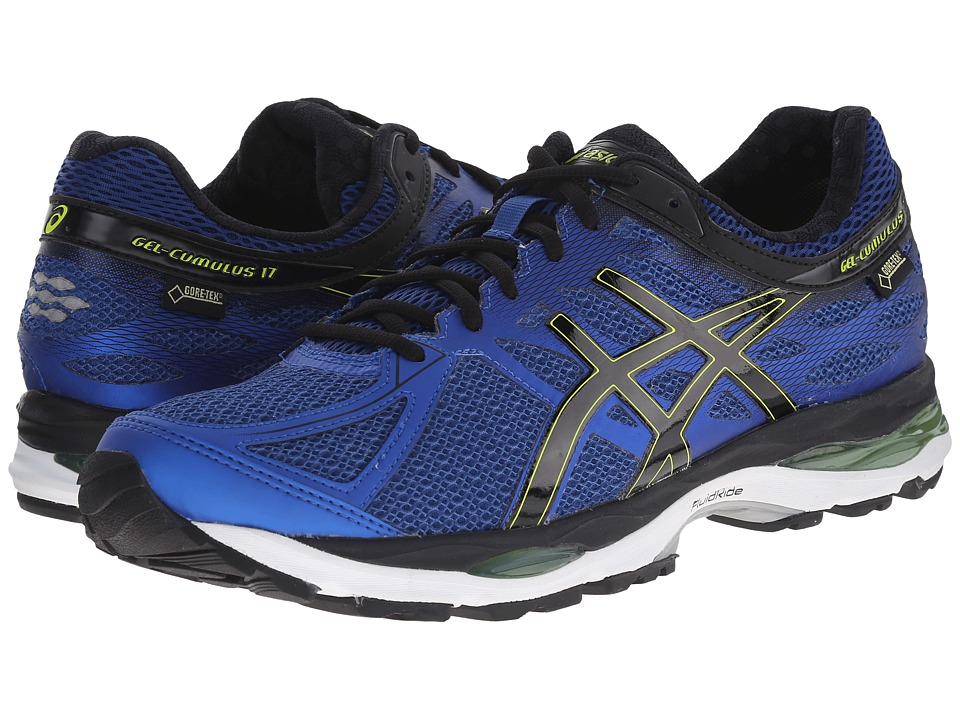 ASICS - GEL-Cumulus 17 GTX (Mosaic Blue/Black/Lime Punch) Men's Running Shoes