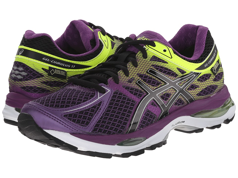 ASICS - GEL-Cumulus(r) 17 GTX(r) (Plum/Onyx/Flash Yellow) Women's Running Shoes